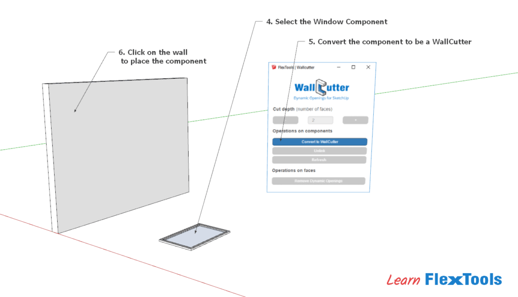 WallCutter SKP Tutorial Img