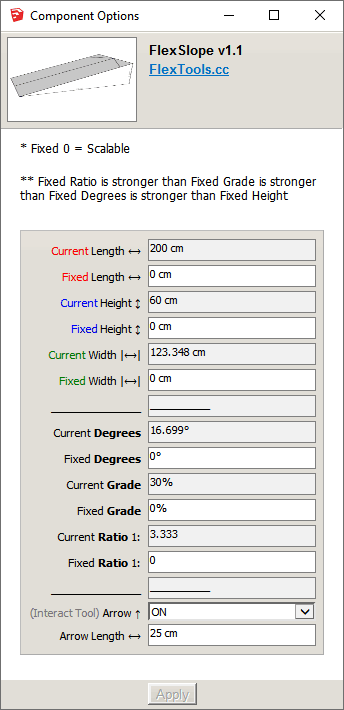 FlexSlope Component Options