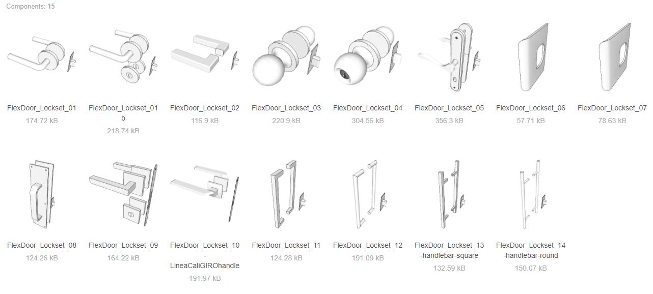 flexdoor handles