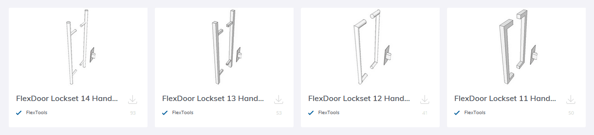 4 new door handles