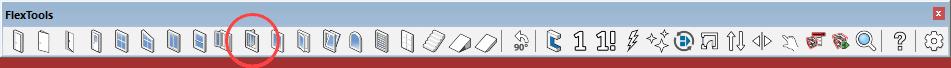 bifolding door component on toolbar