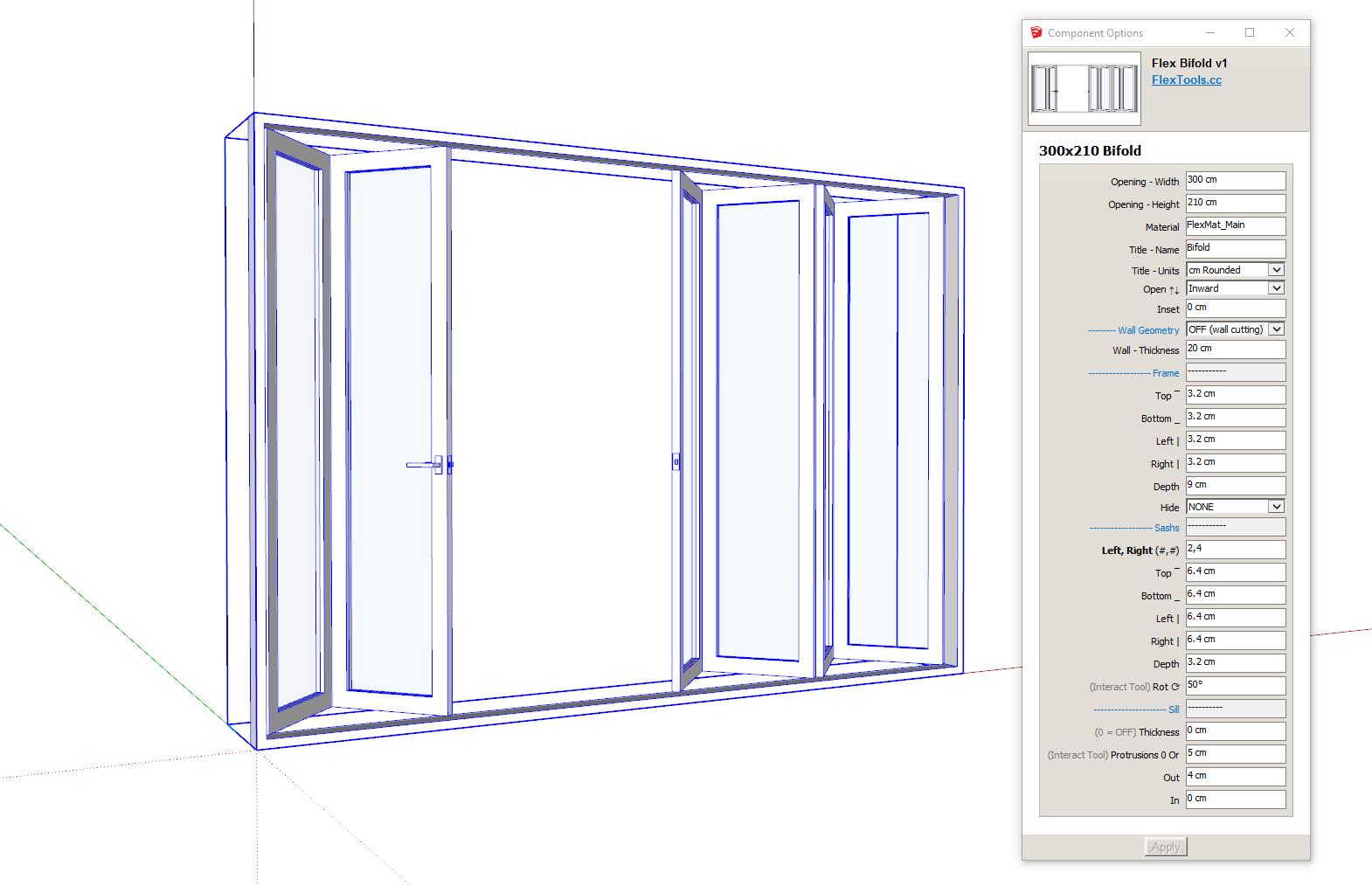 Flex Bifolding Door