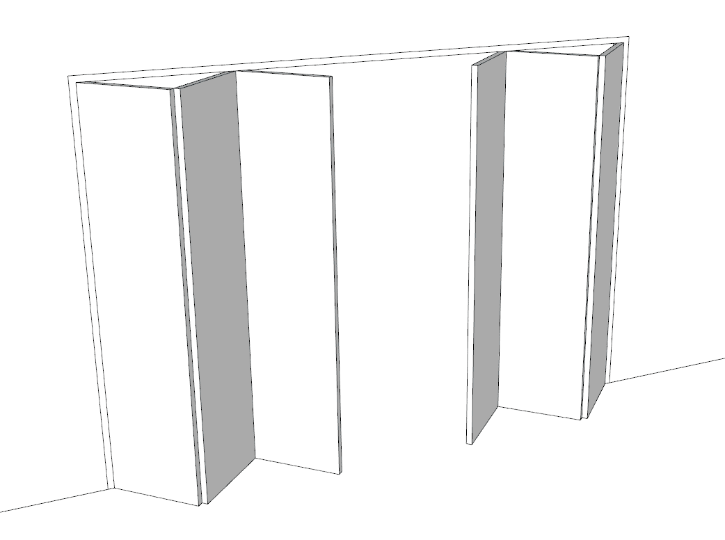 Bi-fold with solid panels