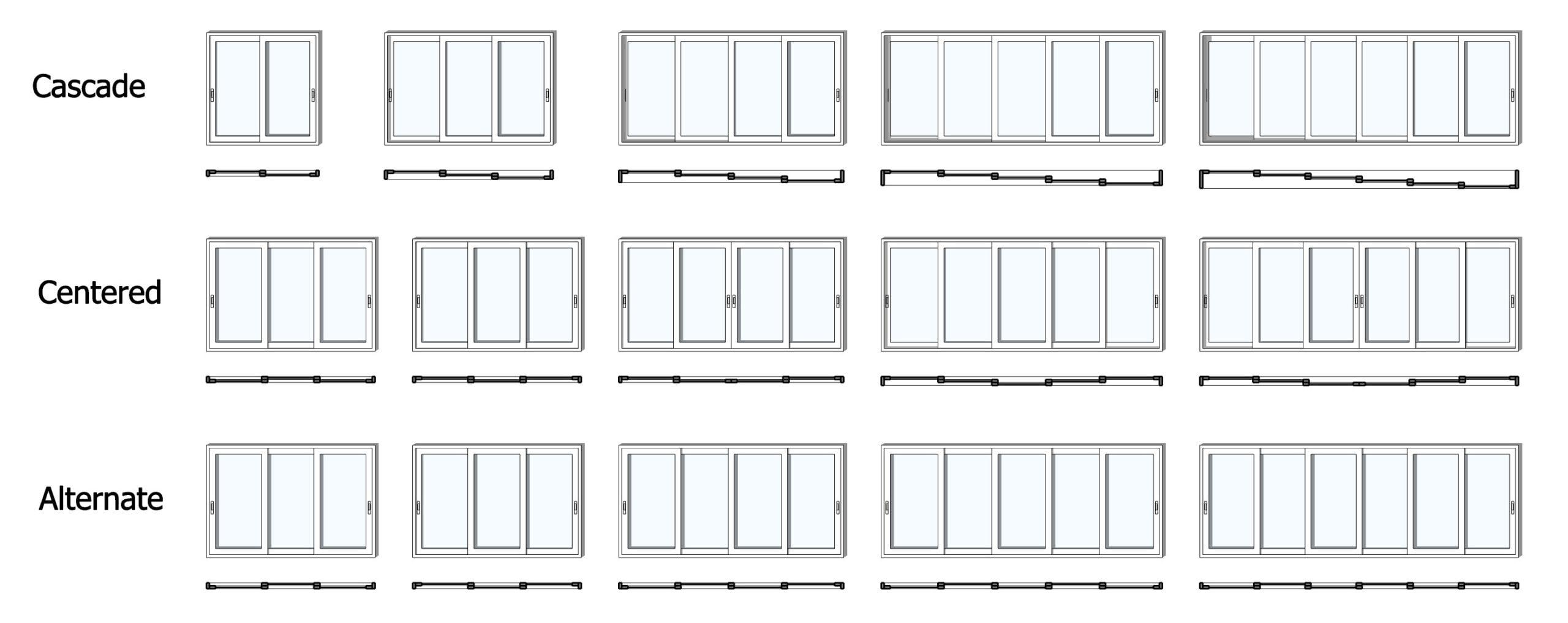 Multi-Slider window and door configurations