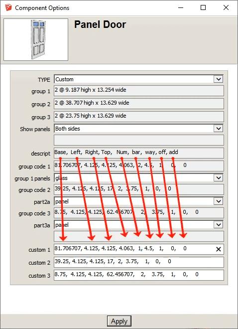 dynamic multi panel door 9 parameters