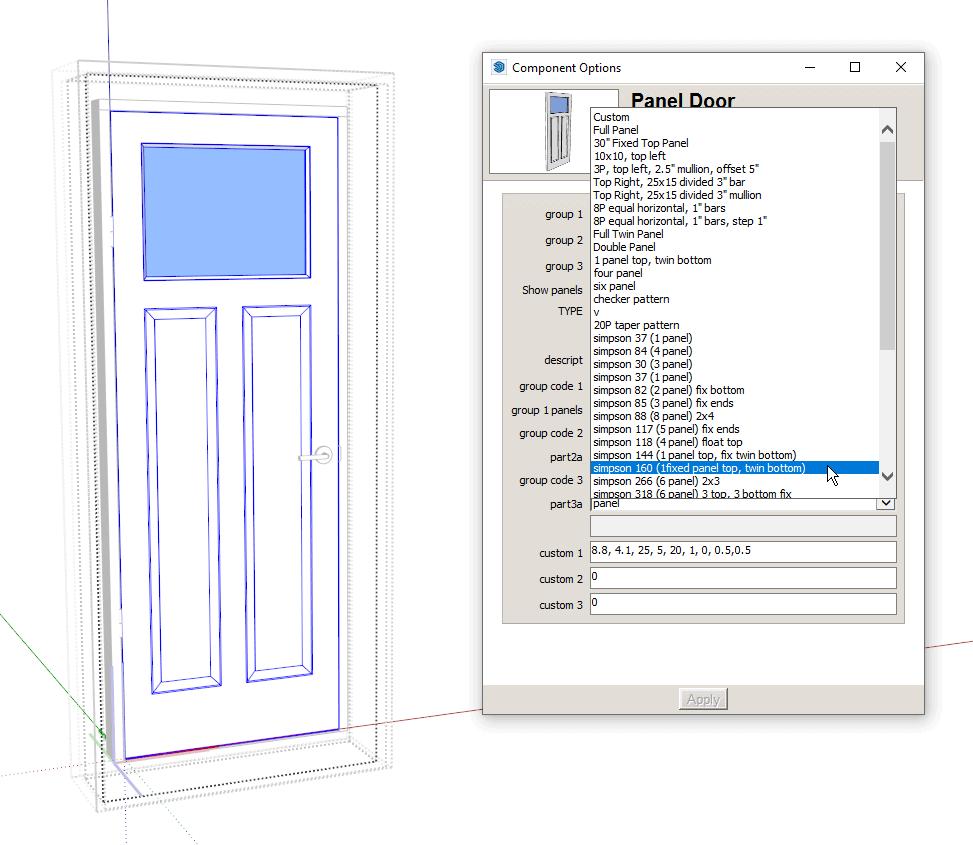 dynamic multi panel door simpson door presets