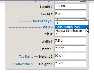 FlexFence rail distributions