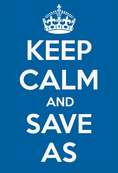 keep calm and save as Sketchup